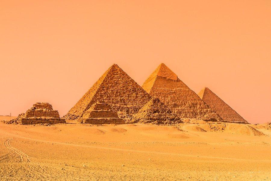 The pyramids of Giza, Cairo, Egypt