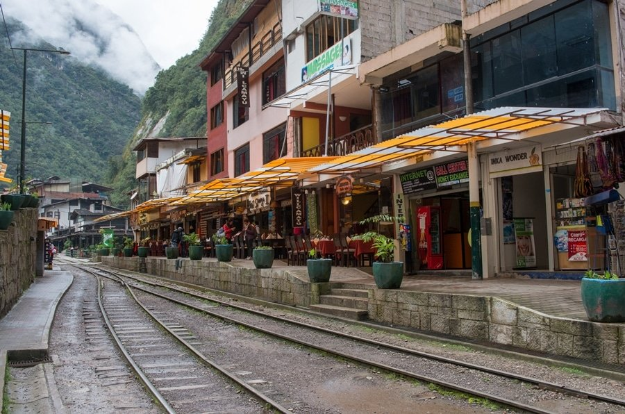 The train station in Aguas Calientes is a gateway to Machu Picchu