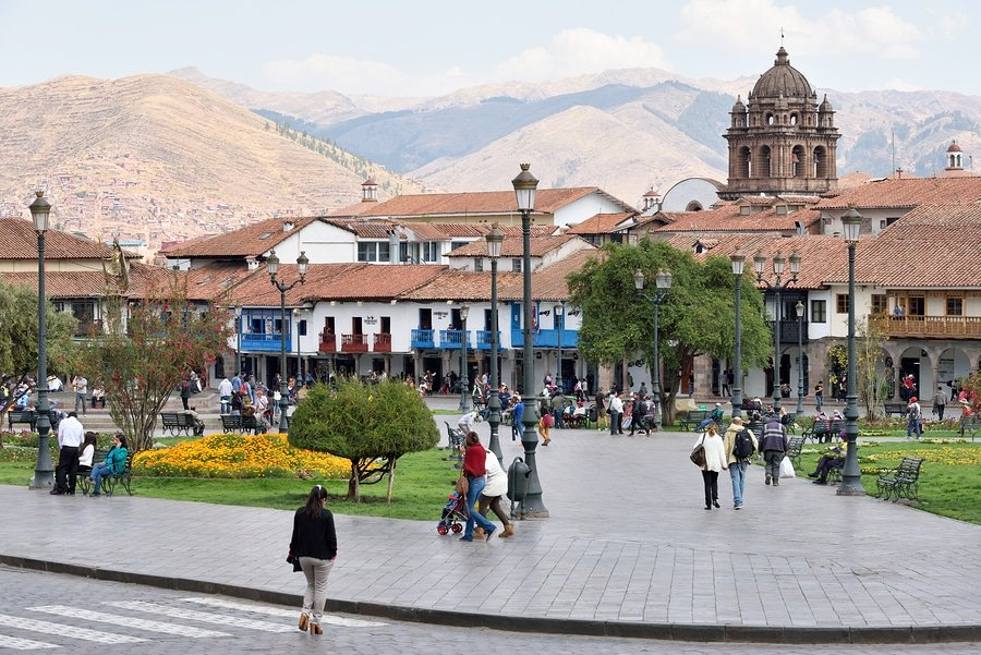 View of Plaza De Armas of Cusco, Peru