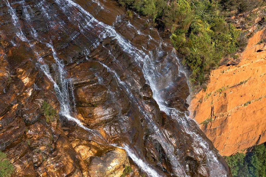 View from above of Wentworth Falls, Blue Mountains, Australia
