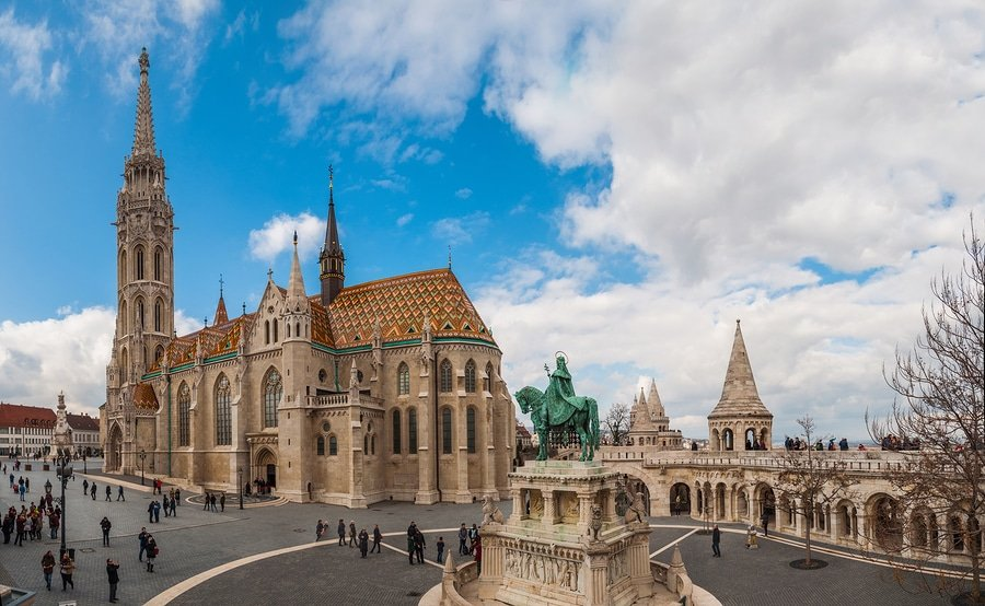 Matthias Church is a Roman Catholic church located in Budapest Hungary in front of the Fisherman's Bastion at the heart of Buda Castle District