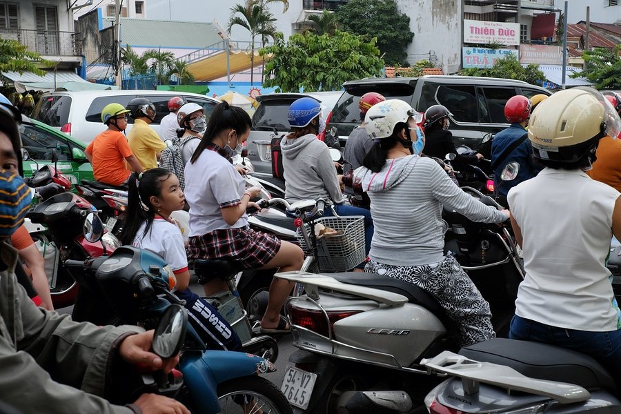 Traffic in Ho Chi Minh City