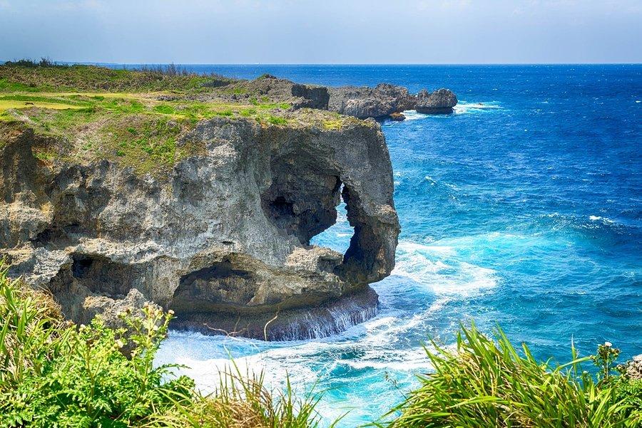 Manzamo Cape in Okinawa Japan