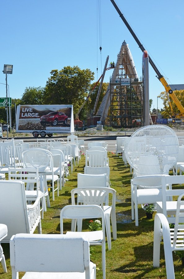 185 Empty White Chairs In Christchurch, New Zealand