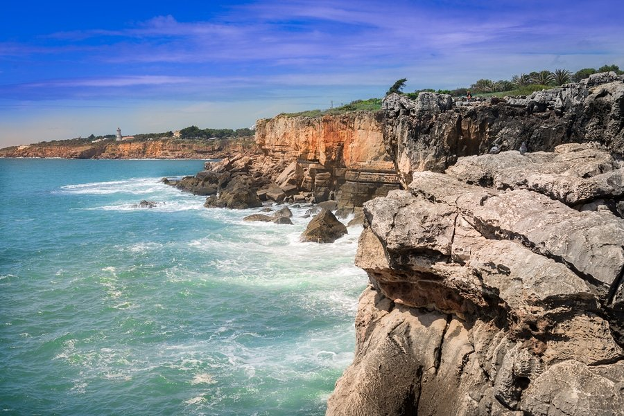 The Hell's Mouth chasm  located by the seaside cliffs near Cascais