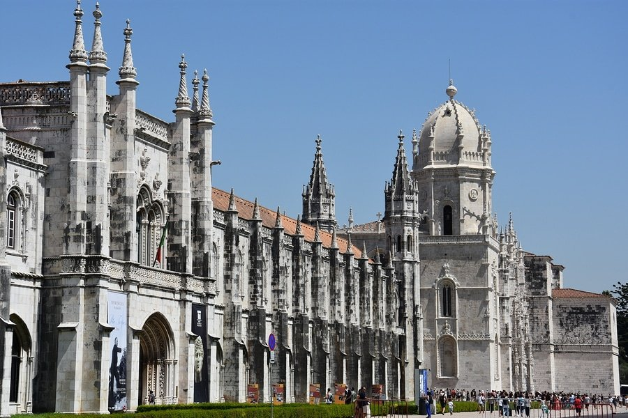 Jeronimos Monastery in Belem, Lisbon, Portugal,  was classified a UNESCO World Heritage Site in 1983