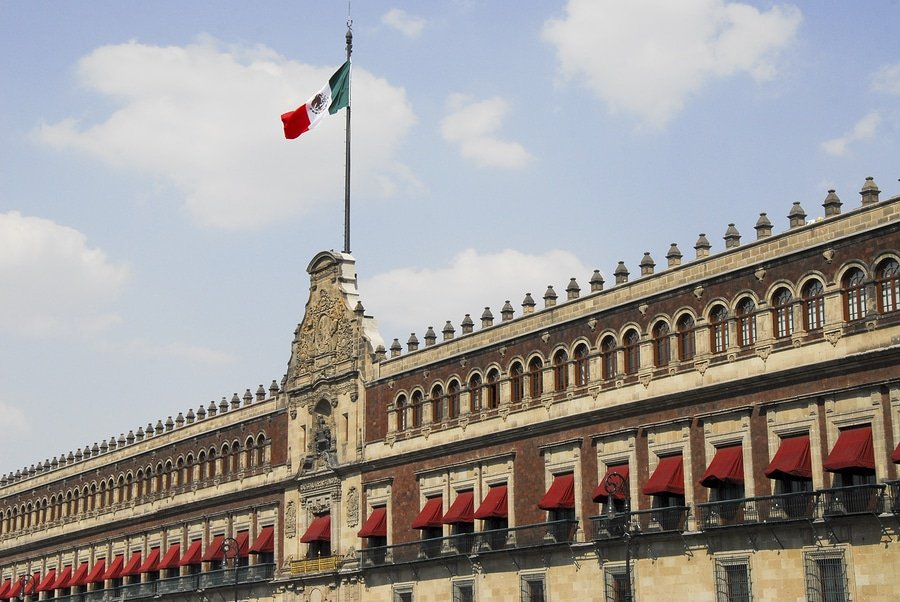 The National Palace is the seat of the federal executive in Mexico. It is located on Mexico City's main square, the Plaza de la Constitución