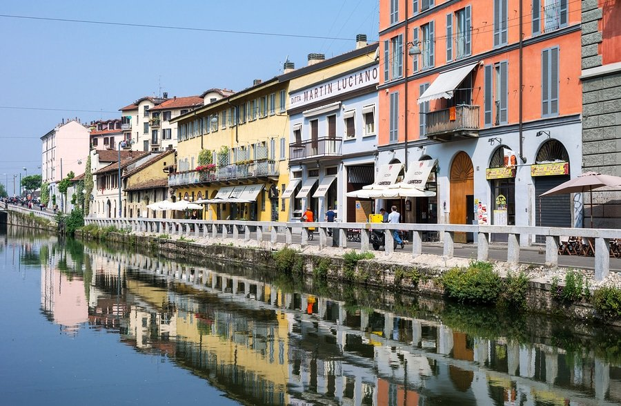 the Navigli quarter, Milan
