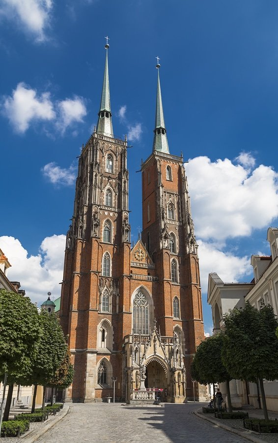 The Cathedral of St. John the Baptist in Wrocław, is the seat of the Roman Catholic Archdiocese of Wrocław and a landmark of the city of Wrocław in Poland