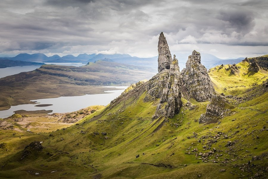 The Old Man Of Storr On The Isle Of Skye In The Highlands Of Scotland