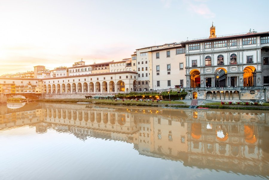 Uffizi museum looks stunning from the outside but wait until you get inside of it
