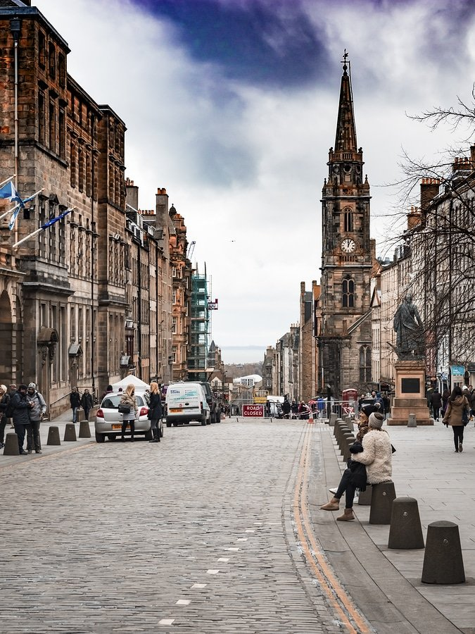 The Royal Mile is the name given to a succession of streets forming the main thoroughfare of the Old Town of the city of Edinburgh in Scotland