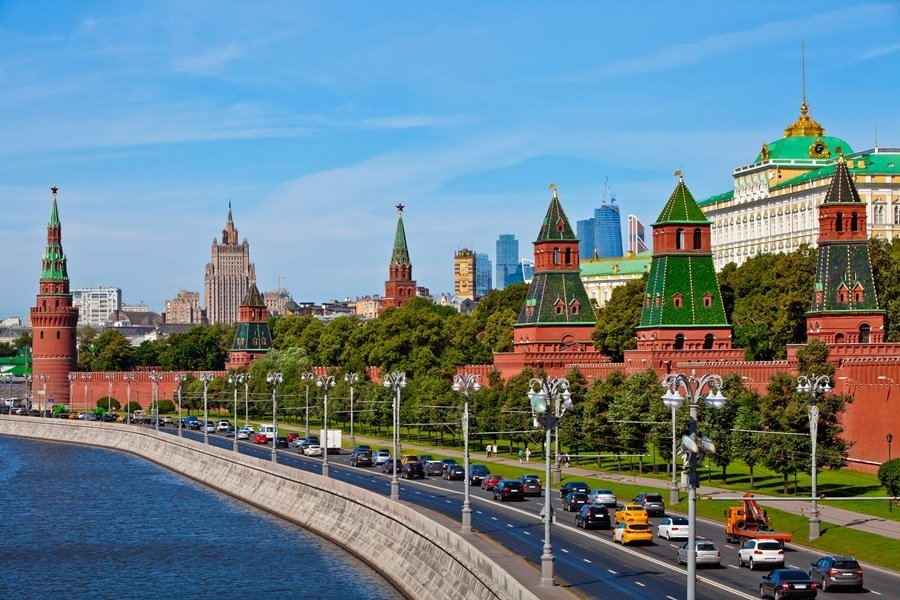 The Moscow Kremlin, usually referred to as the Kremlin, is a fortified complex at the heart of Moscow, overlooking the Moskva River to the south, Saint Basil's Cathedral and Red Square to the east, and the Alexander Garden to the west