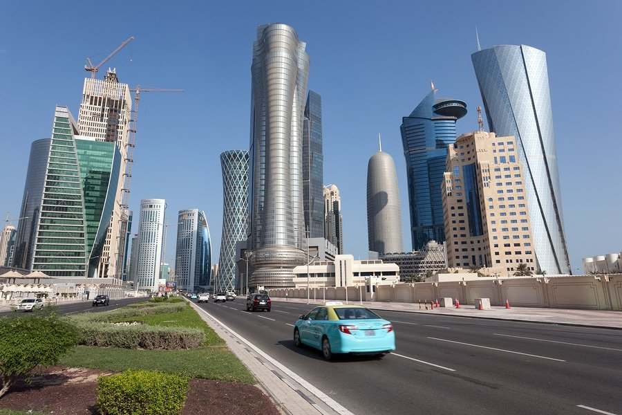 Doha Downtown Skyscrapers, Qatar