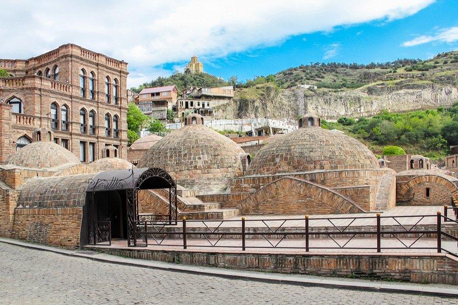 Abanotubani baths, Tbilisi, Georgia
