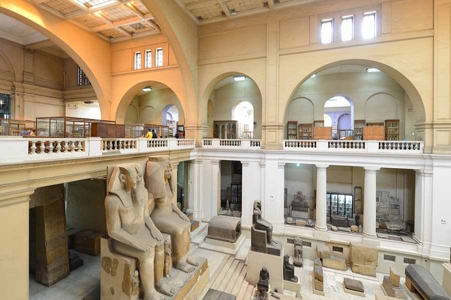 Interior of the Egyptian Museum in Cairo, Egypt