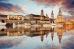 Panorama of Dresden Old Town over the Elbe River, Dresden, Germany